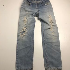 Denver Hayes Distressed Jeans Mens 38x34